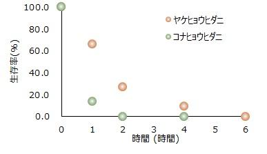ダニの高温抵抗性を検証図2