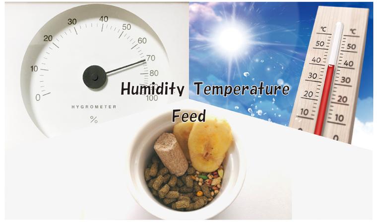 ダニの繁殖に関わる温度・湿度・エサ